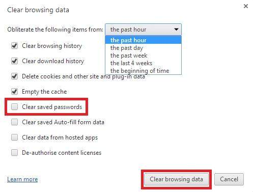 how to remove saved passwords in chrome