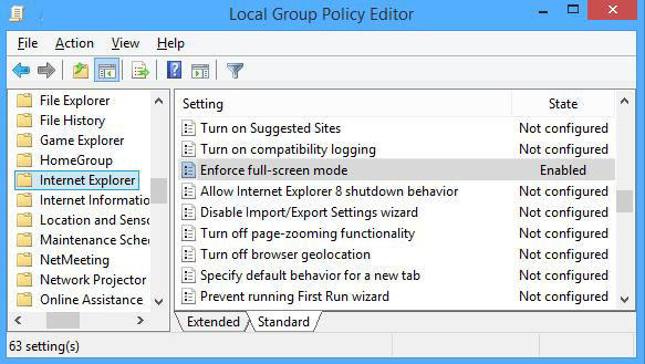 how to enable full restricted mode in ie