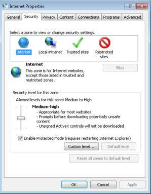 how to make internet explorer more secure