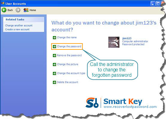 how to get passed windows xp login password