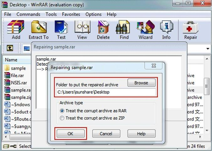 how to fix corrupted .rar .zip archives