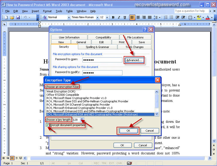 Advanced Microsoft Word 2003