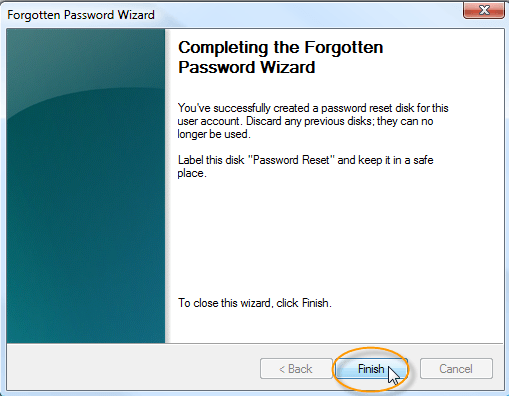 Complete the Forgotten Password Wizard