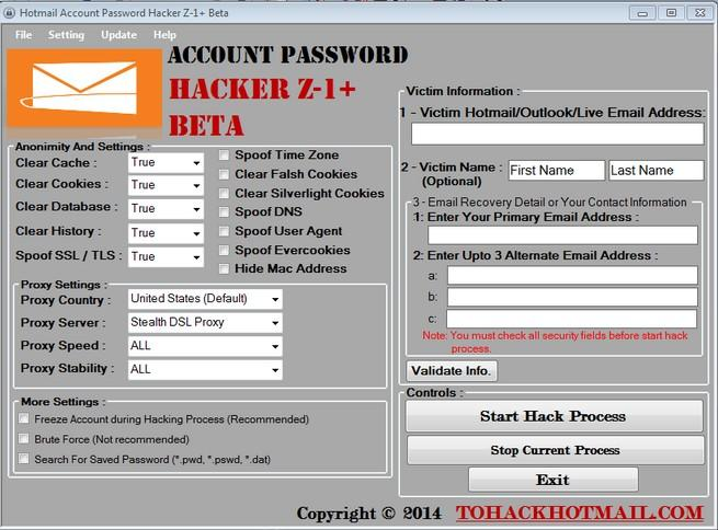 free hotmail password hacker