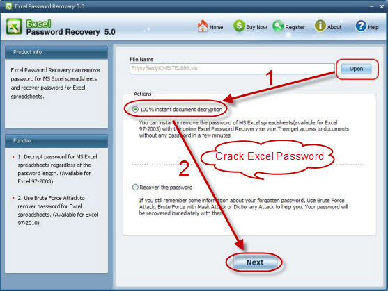 Serial Easy Excel Password Recovery 5