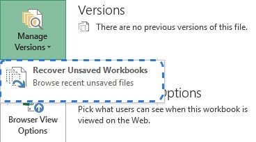 how to recover unsaved excel files
