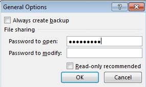 remove password excel 2013