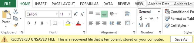 how to recover overwritten excel files