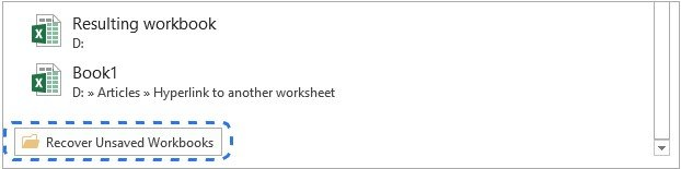 excel how to recover unsaved file 2013