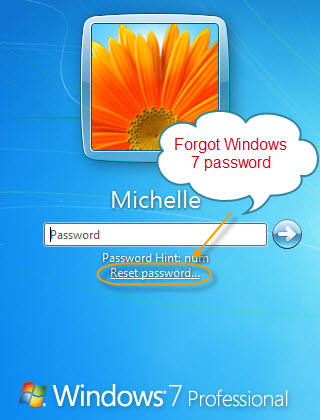 My windows 7 password if forgot