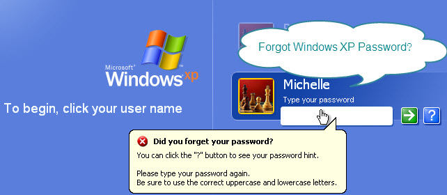 forgot windows xp password