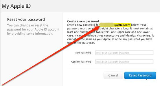 how to reset an app store password