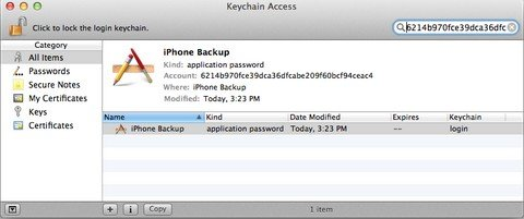 password to unlock iphone backup