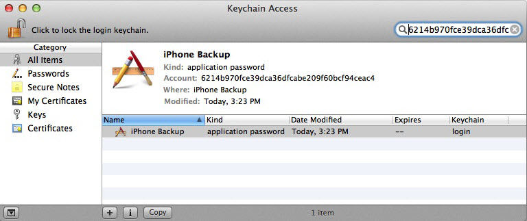 forgot itunes encrypted backup password