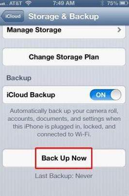 how to backup iphone before updating ios 7