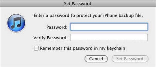 forgot iphone backup password