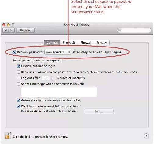 password protect your mac
