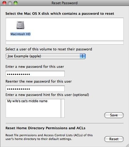 mac password reset