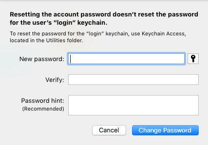 change admin password mac