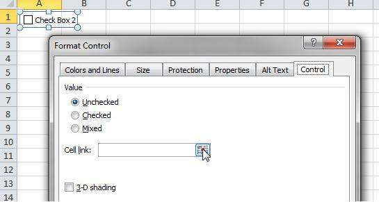 how to add checkbox to excel spreadsheet