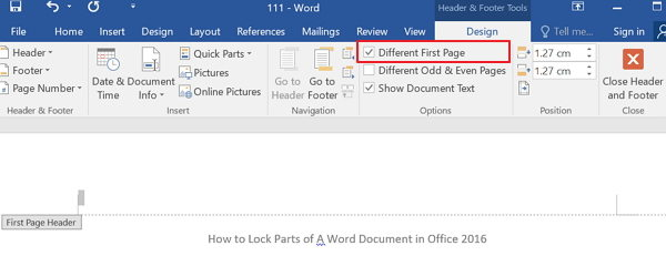 how to get page numbers to start on page 3