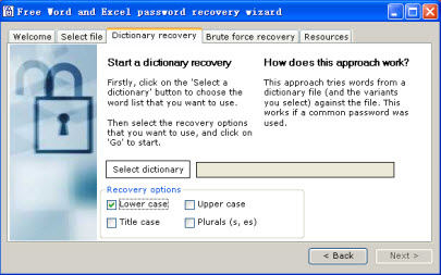 free Microsoft Office password recovery tool