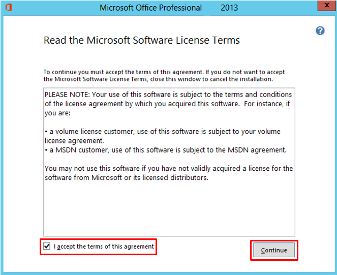 Microsoft software license terms
