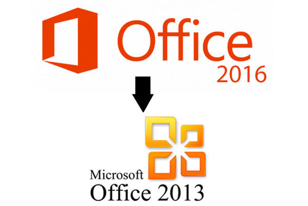 downgrade Office 2016 to 2013