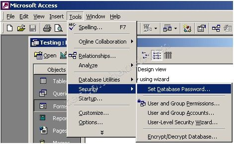 encrypt office 2003 files