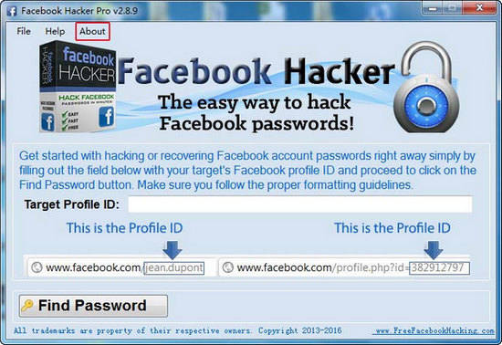 facebook password hack indir