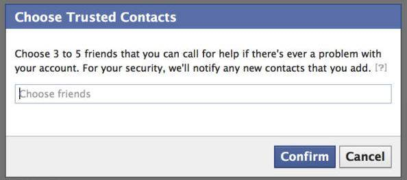use facebook trusted contacts to recover password