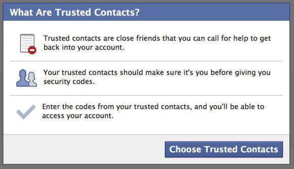 set your trusted contacts on facebook