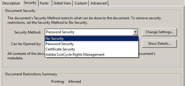 how to password protect an adobe pdf file