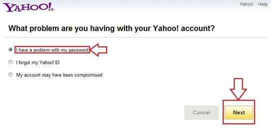 forgot yahoo password and security question answers