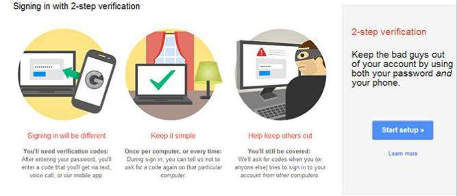 how to secure gmall account with two-step verification