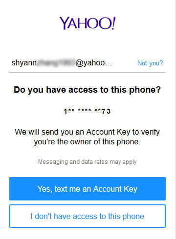 find someones yahoo mail password