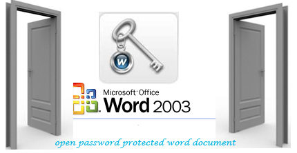open password protected word document