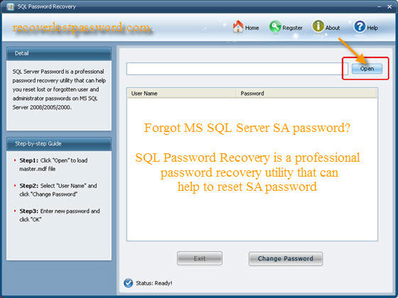 Forgot SQL SA password