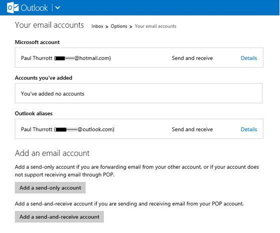 send email from other account in outlook.com