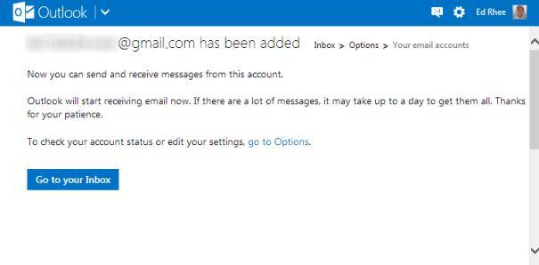 how to send email from other account in outlook.com