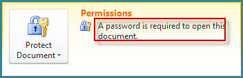 word 2010 password protected