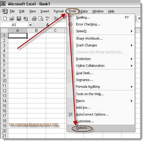 How to encrypt excel and recover excel 2003 password