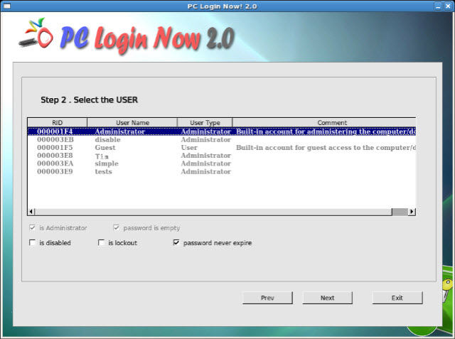 free Windows XP password recovery