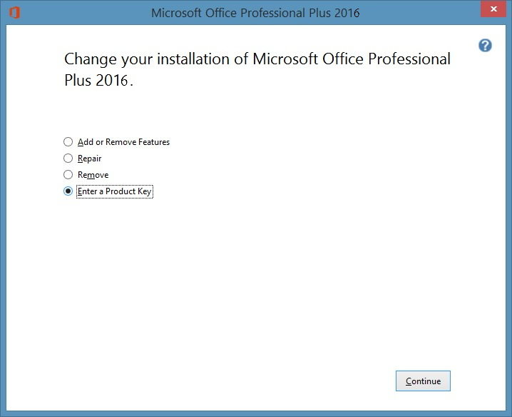 How to Change Product Key of Office 2016 without Reinstalling