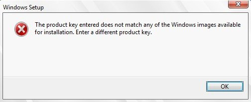product key is not valid windows 7