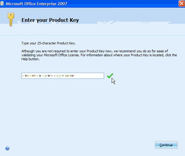 key microsoft office 2007
