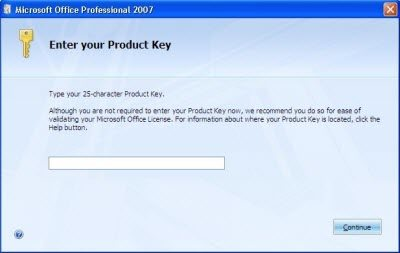 locate microsoft office product key in registry