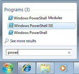 Windows 7 Search PowerShell