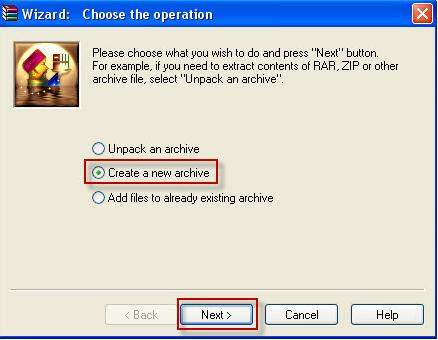 how to encrypt a rar file