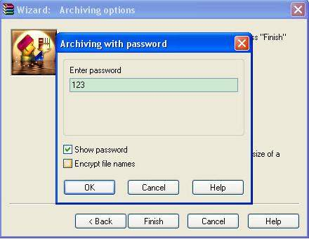 how to password protect rar file